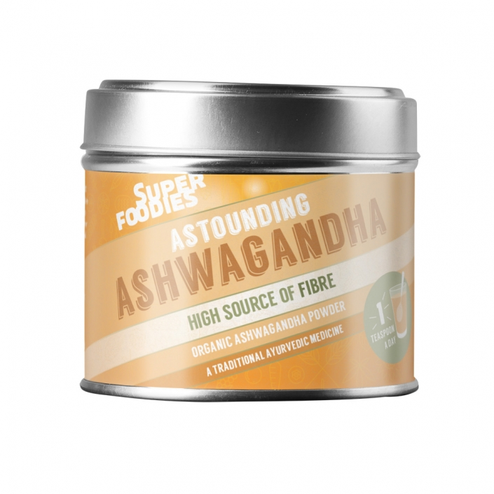 Superfoodies Ashwagandha packaging design