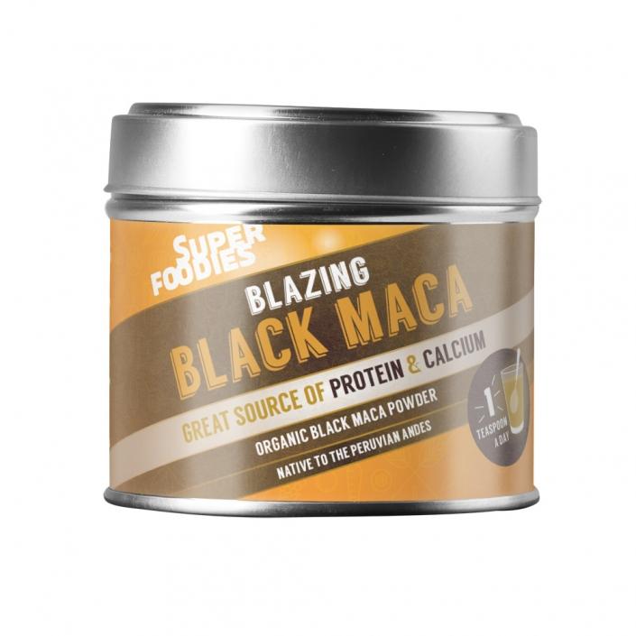 Superfoodies Black Maca packaging design