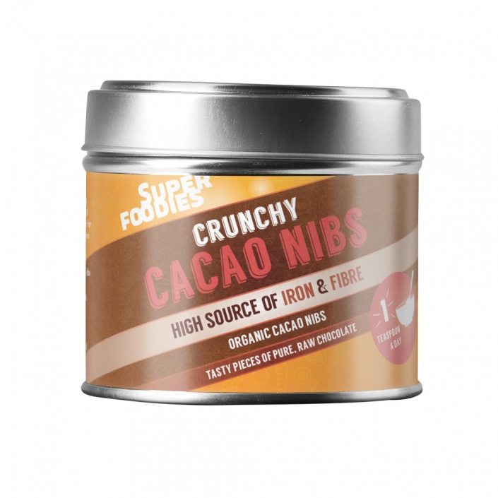 Superfoodies Cacao nibs packaging design
