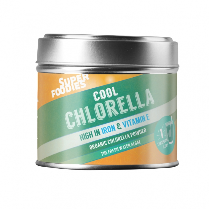 Superfoodies Chlorella packaging design
