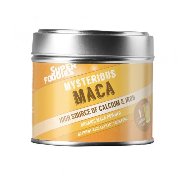 Superfoodies Maca packaging design