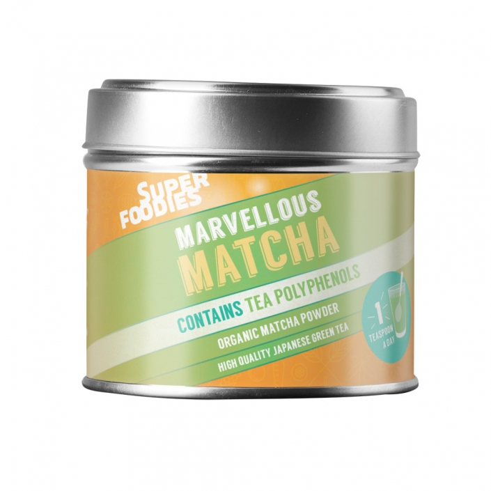Superfoodies Matcha packaging design