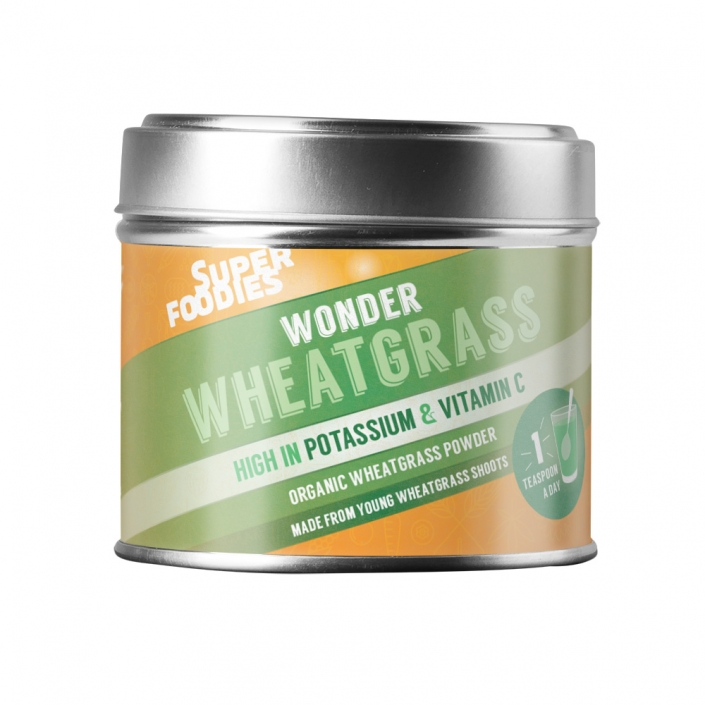 Superfoodies Wheatgrass packaging design
