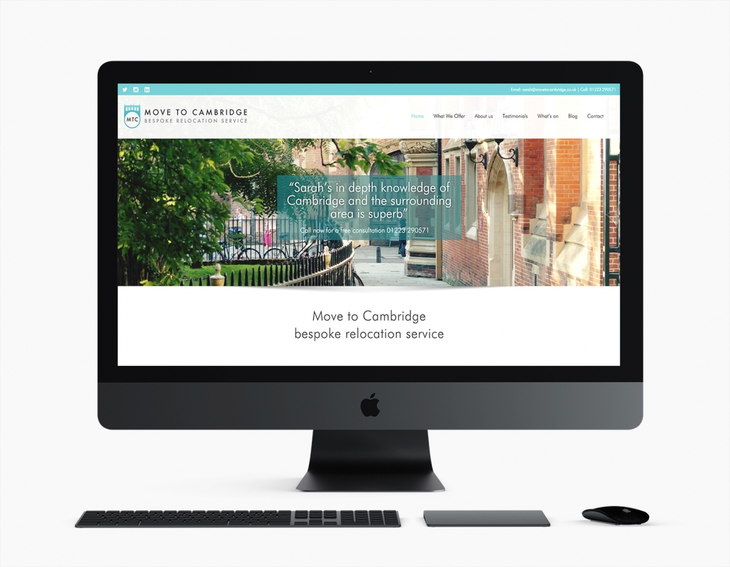 Move to Cambridge - Website by Arnott Design