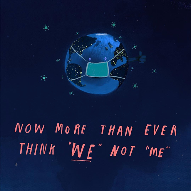 Now more than ever think 'we' not 'me'